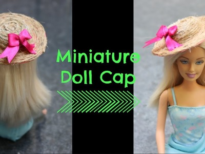 Miniature Hat for Barbie Doll | Miniature Summer Beach Hat | How to make a Mini Hat