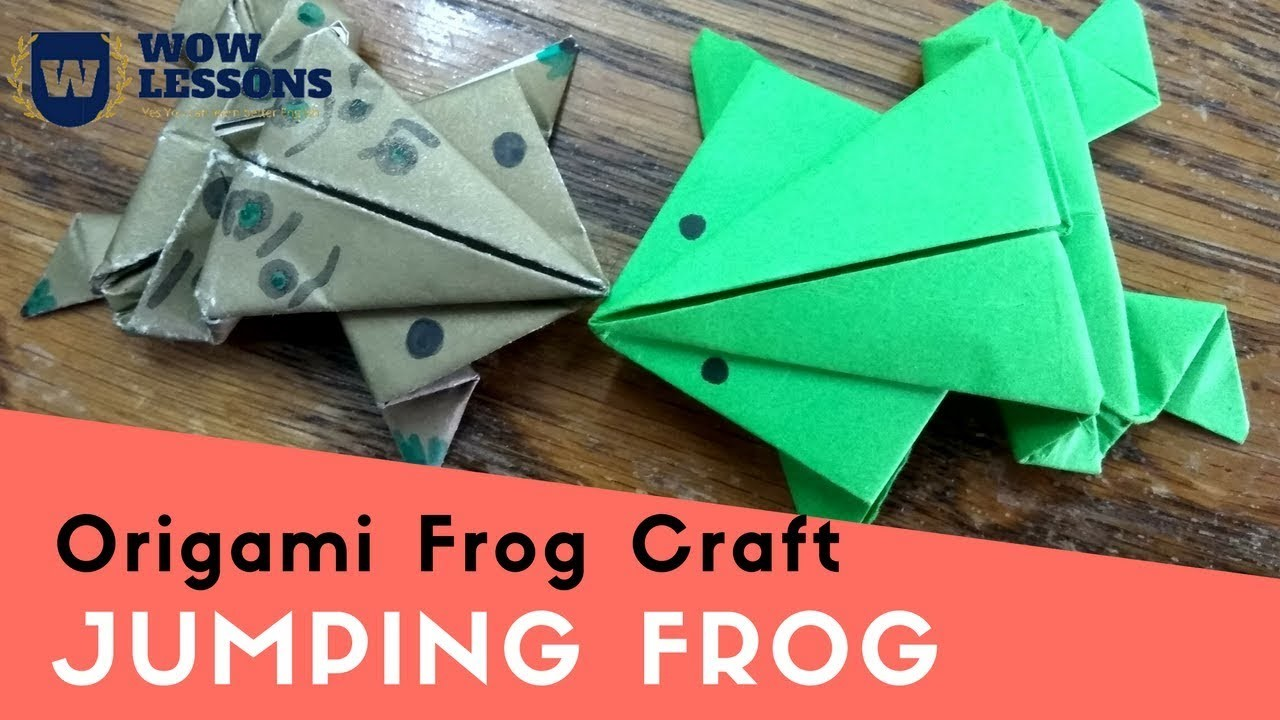Paper Frog - Jumping Frog - How to make Jumping Frog With Paper Easy | Must Watch
