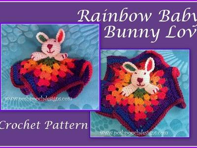 Rainbow Baby Bunny Lovie Crochet Pattern