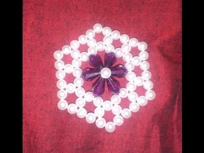 পুঁতির ব্যাগ এর ফুল || How to make beaded bag flower|| How to make purse with bead|| পুতির কাজ ||