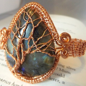 tree of life labradorite bangle