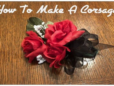 Tricia's Creations: How To Make A Corsage Simple Way!
