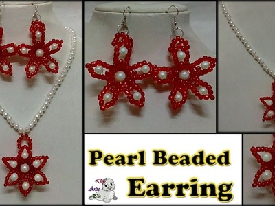 #130 How to Make Pearl  Beaded Earring and Pendant || Diy || Jewellery Making