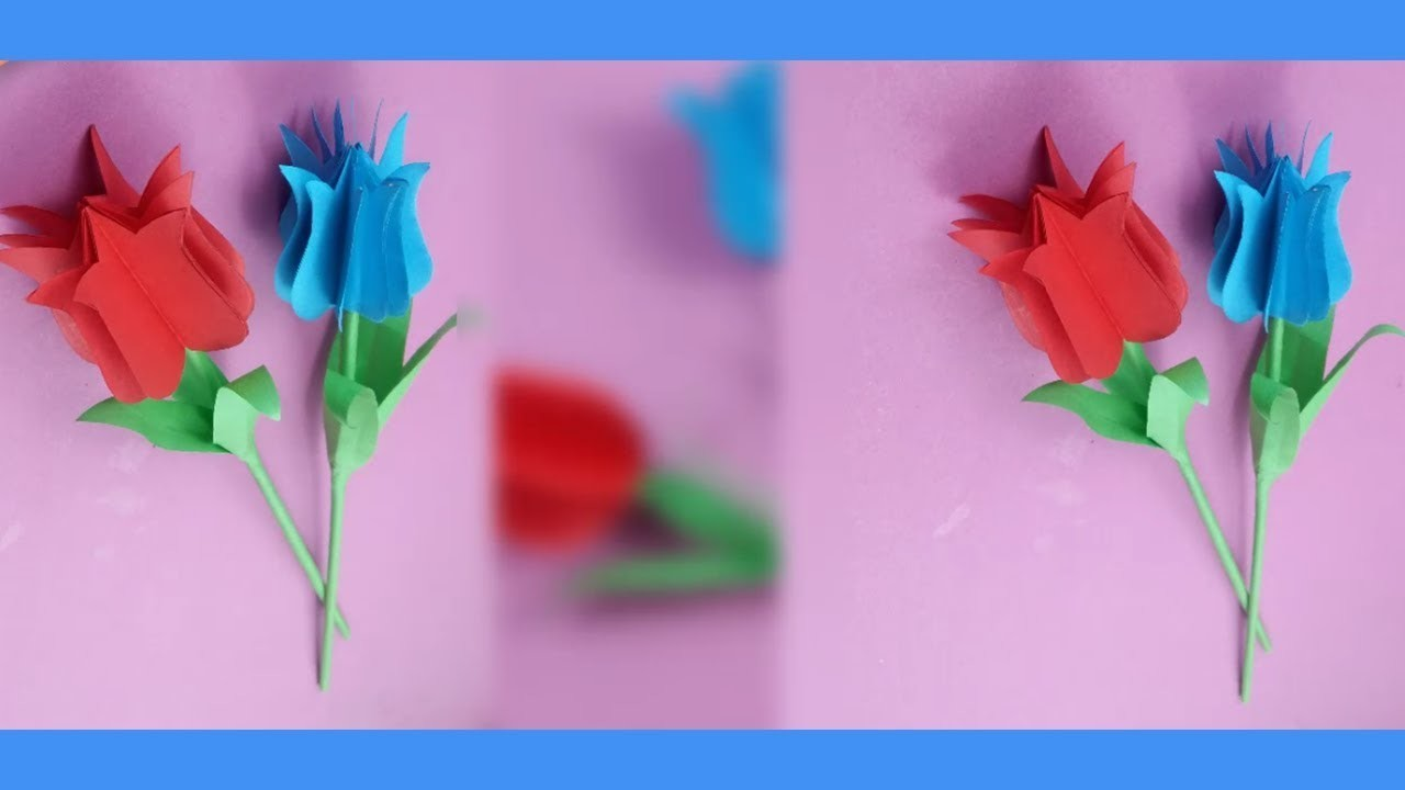 Art Valley How To Make A Beautiful 3d Tulip Flower From Paper