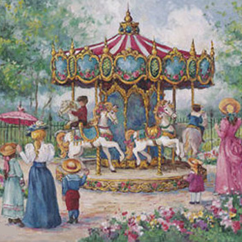 Carousel Ride Cross Stitch Pattern***LOOK***