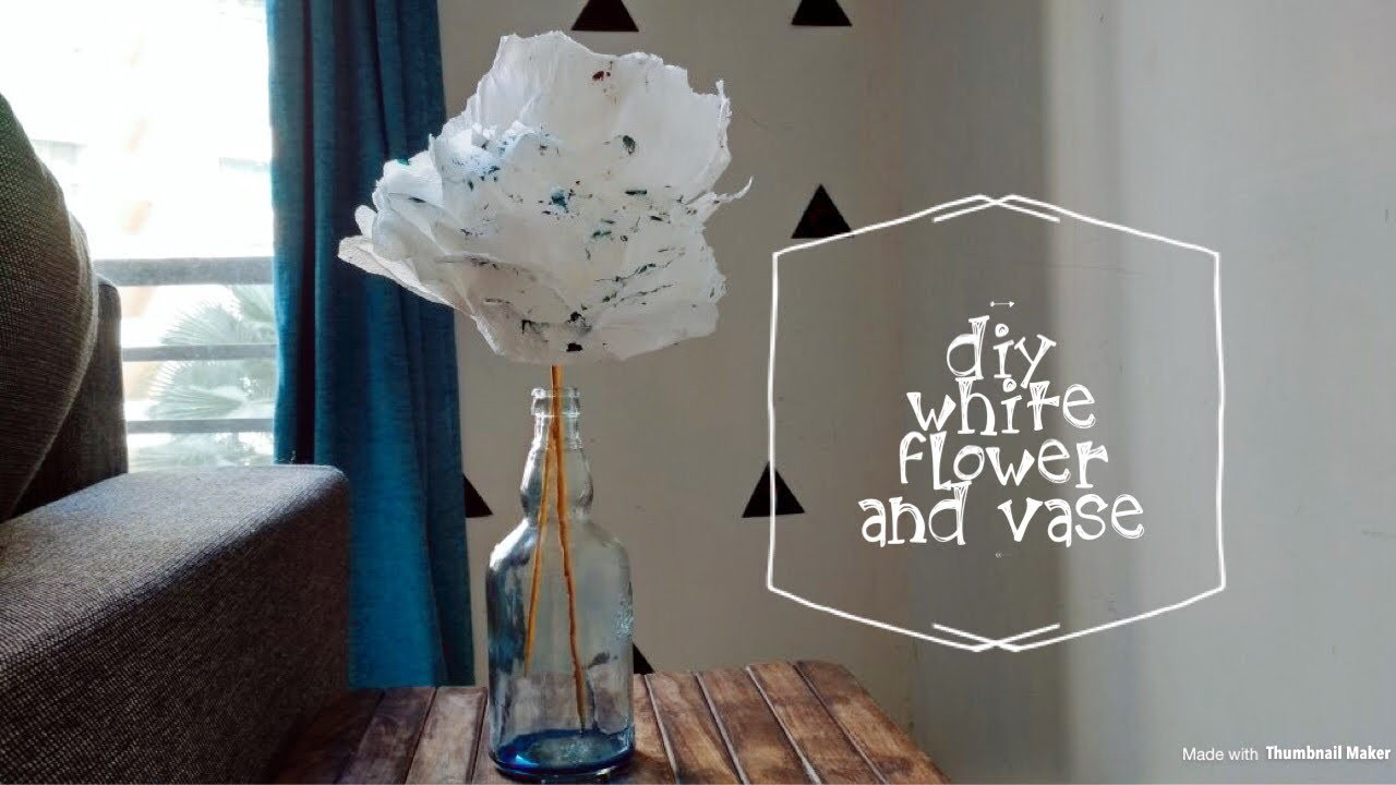 DIY Blue heaven flower vase ????