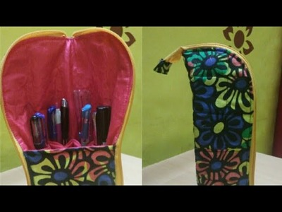 DIY Fabric Pen-Pencile Stand Stylish Pouch.How to make Pen-Pencile Stand Pouch.