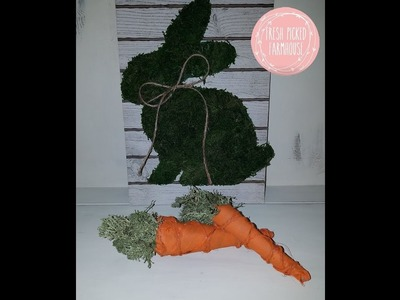 DIY Farmhouse Carrots From Recycled Paper Towel Roll|Fresh Picked Farmhouse