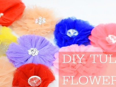 DIY flowers making | how to make net  fabric flowers