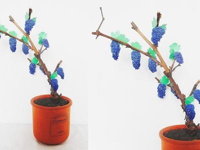 DIY * Grapes * How to make Easy Artificial Grapes * Home Decor * виноградная лоза своими руками
