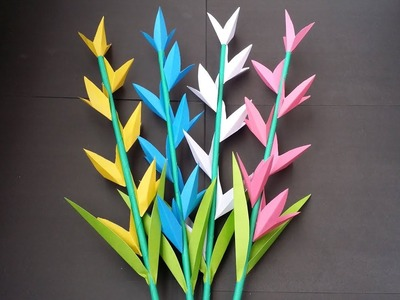 DIY: How to Make Beautiful Paper Flower Stick For Room Decoration!!!