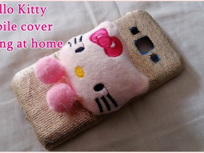 DIY- How to Make Market Style Hello Kitty Mobile Cover at home || upcycling ideas