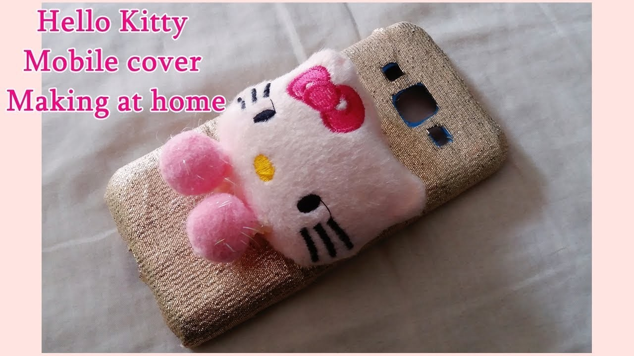 DIY- How to Make Market Style Hello Kitty Mobile Cover at home    upcycling ideas