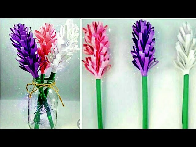 Diy Paper Crafts How To Make Paper Lavender Flower Make Easy And