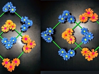 DIY: Wall Decoration idea|How To Make Beautiful Flower Hanging