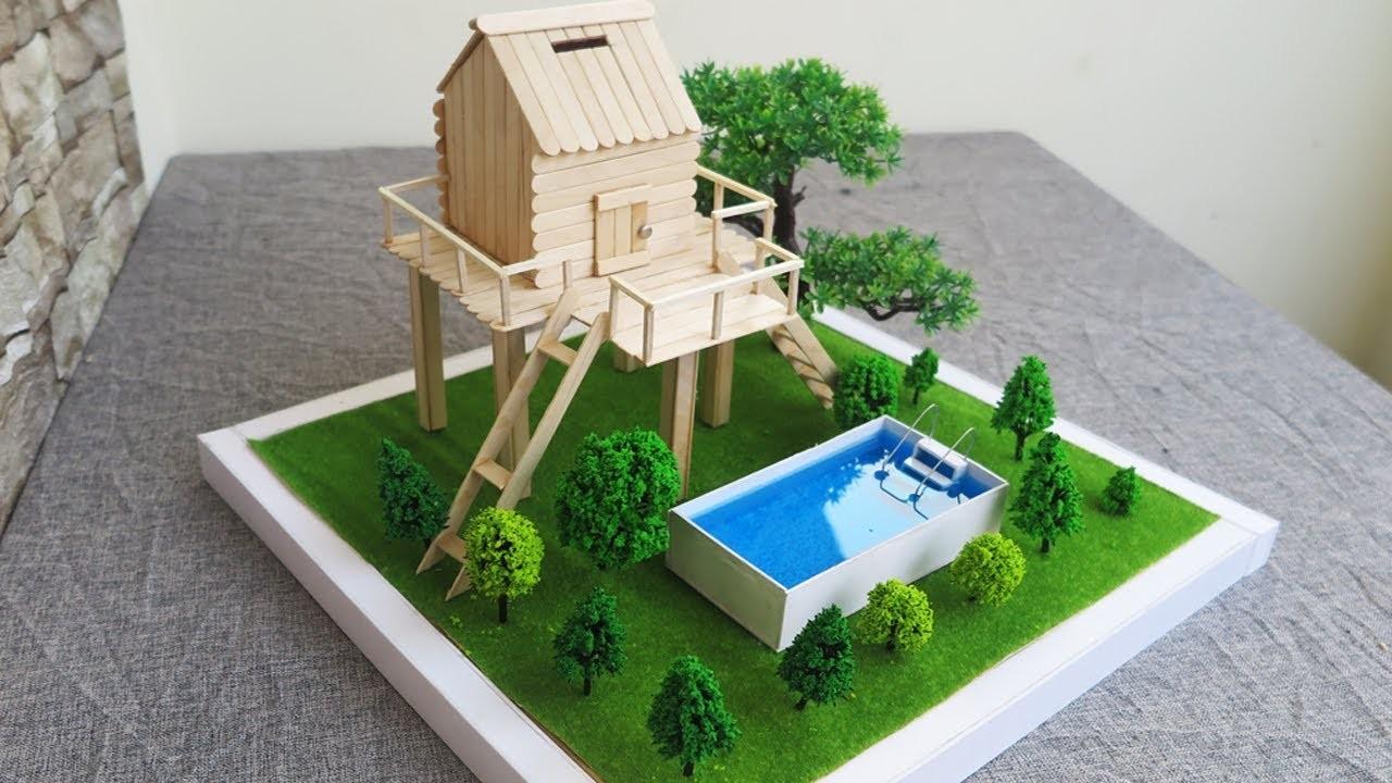 how to make stick house