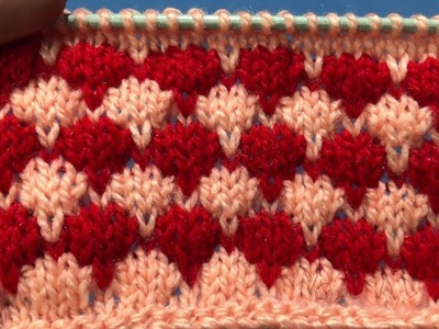 DOUBLE COLOR  KNITTING DESIGN