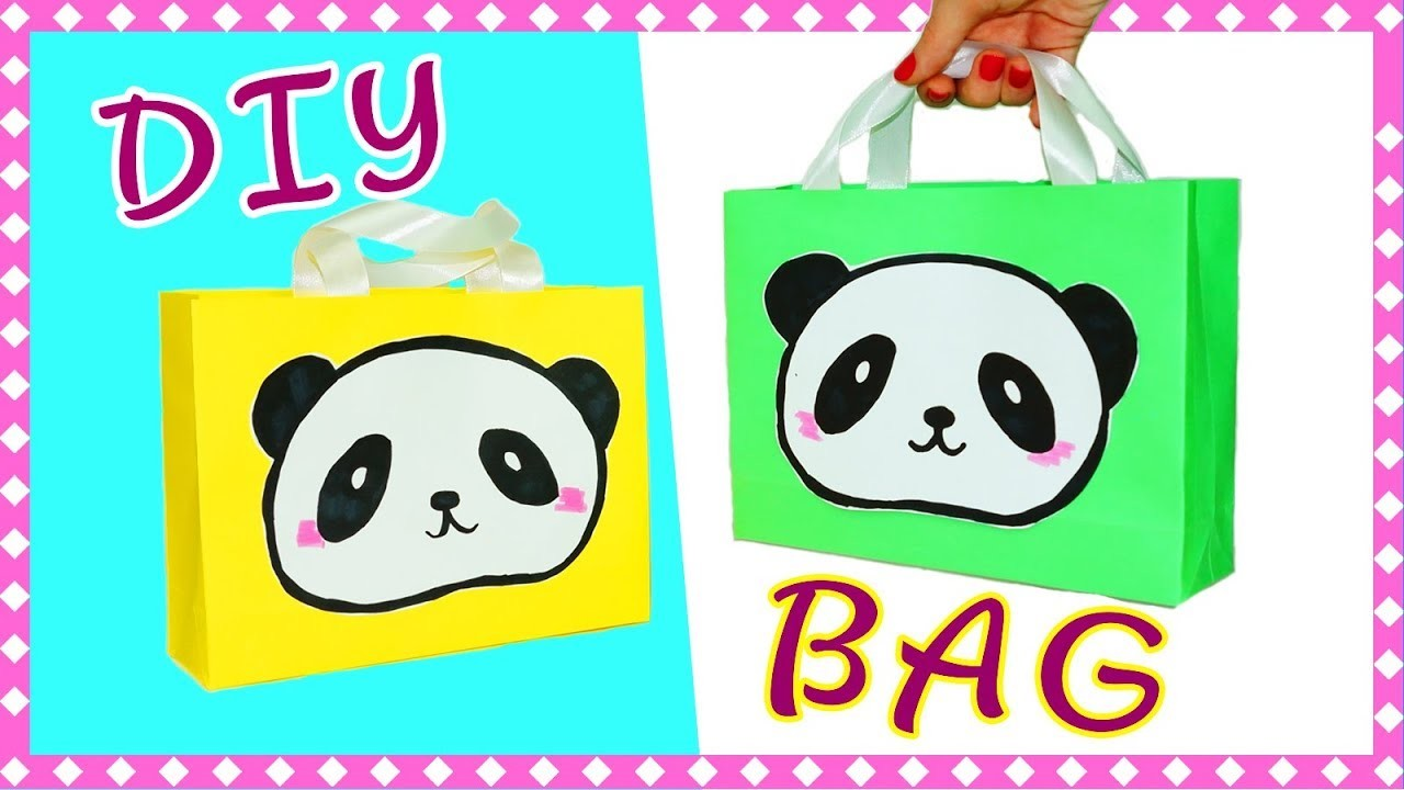Easy DIY crafts   DIY panda   How to make paper bag for gift   DIY paper crafts idea   Julia DIY