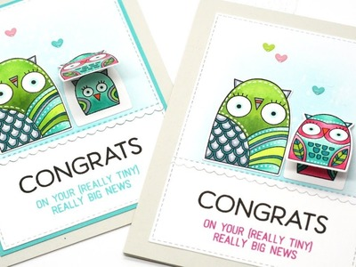 How to Create Nested Owl Baby Cards