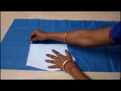 How to cut 32 inches princess cut blouse with boat neck from paper cutting in marathi
