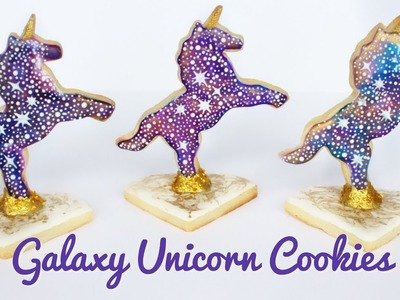 How To Decorate Galaxy Unicorn Cookies