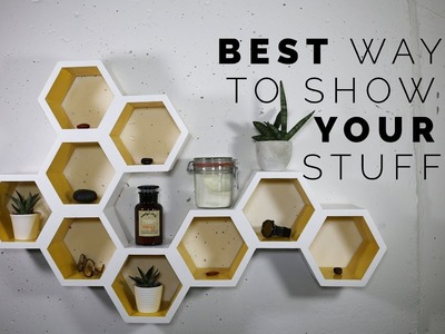 How to design a hexagon honeycomb shelves set