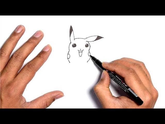 How To Draw Pokemon Pikachu Face Easy Step By Step For Beginners For