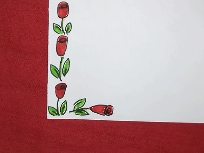 How to draw simple border design.