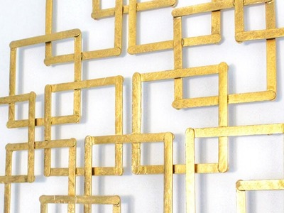 How To Easily Make Faux Metal Looking Wall Decor