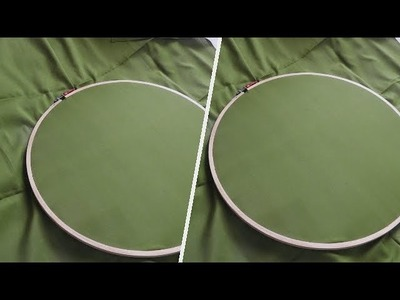 How to fix the fabric to the aari work Round frame for beginners