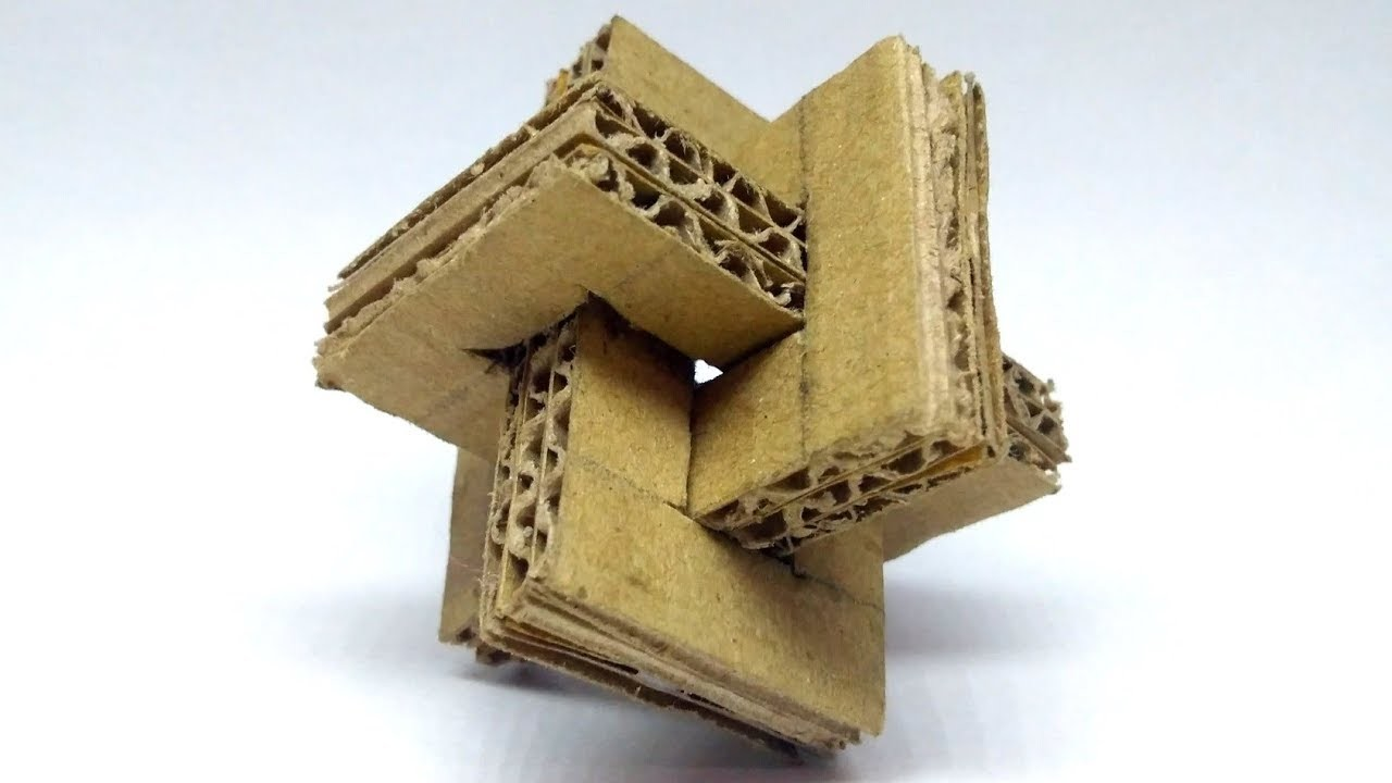 How to Make a Cross Puzzle from Cardboard - Cardboard Puzzle | By Pr. Visio