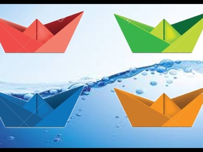 How to Make an Easy Origami Boat | 300x400