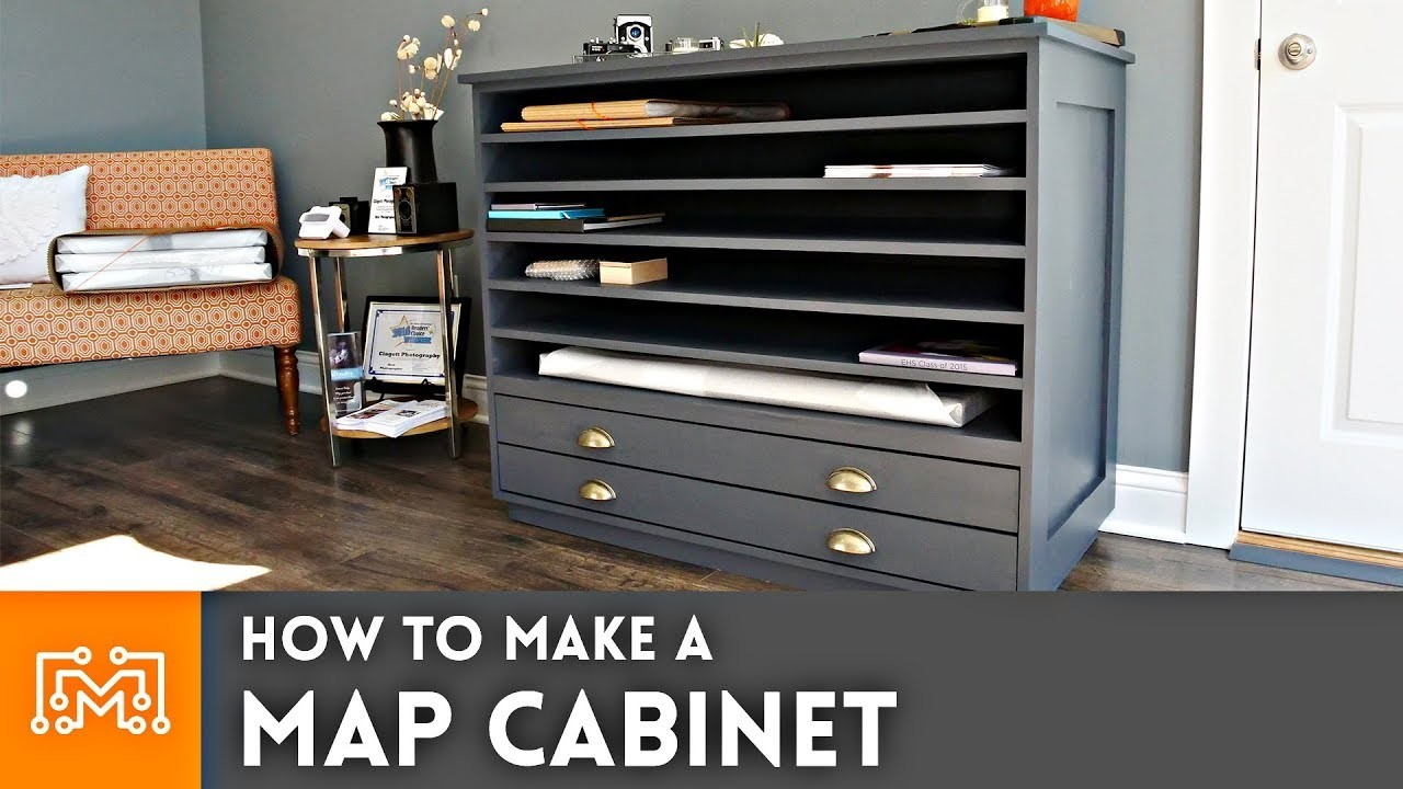How to make a Map Cabinet. Woodworking