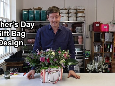 How To Make A Mother's Day Gift Bag Arrangement