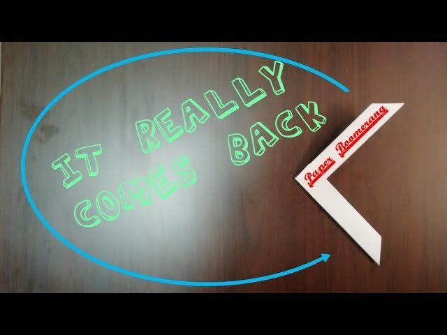 How To Make A Paper Boomerang-EASY step by step TUTORIAL