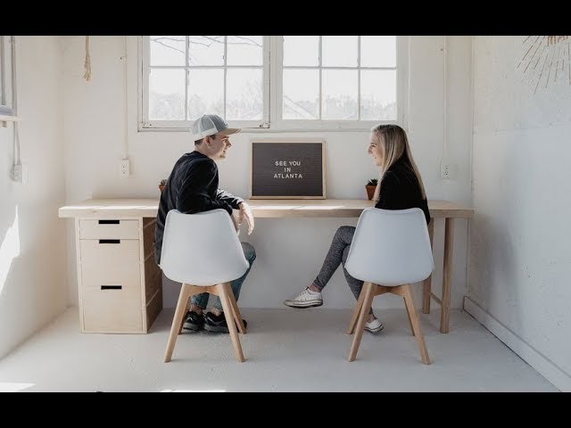 How to make a Plywood Desk with Minimal Tools | Easy Woodworking Project