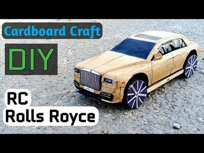 How To Make A RC Car, Rolls Royce Phantom, RR Ghost, Amazing DIY RC Cardboard Car, paper craft car