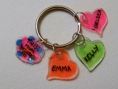 How To Make A Shrink Plastic Keyring For Mothers Day