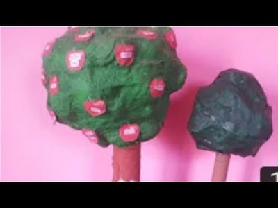 HOW TO MAKE A TREE BY  NEWSPAPER  -(SCHOOL PROJECT)