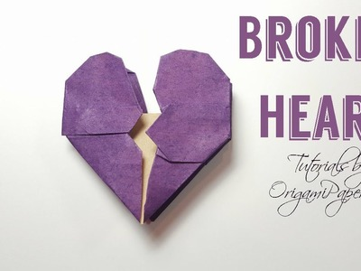 How to make an ORIGAMI BROKEN HEART ???? Tutorial By OrigamiPaperCraft