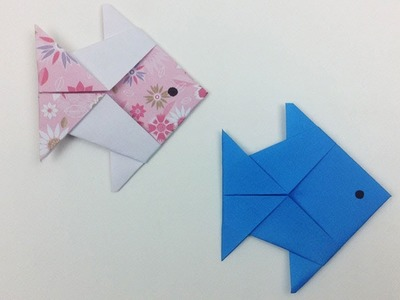 How to Make an Origami Paper Fish Step by Step Tutorial | Fish Origami ???? - Paper Folding Craft DIY