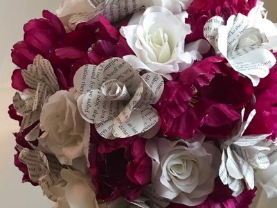 How to make book-page flowers