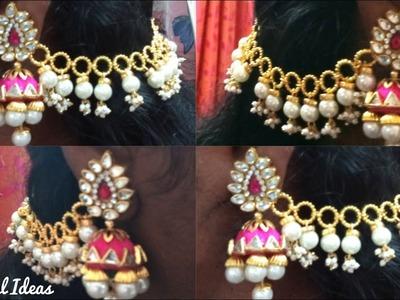 How to Make Champaswaralu Latest Designs with Pearls.Pearl Champaswaralu Making tutorial.Beautiful