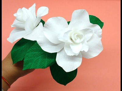 How to make Crepe Paper Flowers Gardenia (flower # 254)