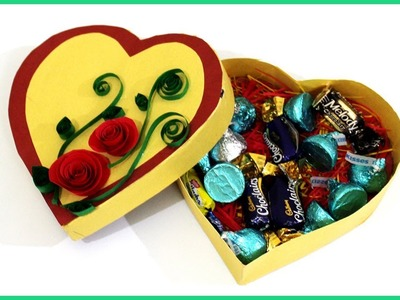 How to Make Customized Heart Shape Gift Box at Home | #giftideas #papercrafts