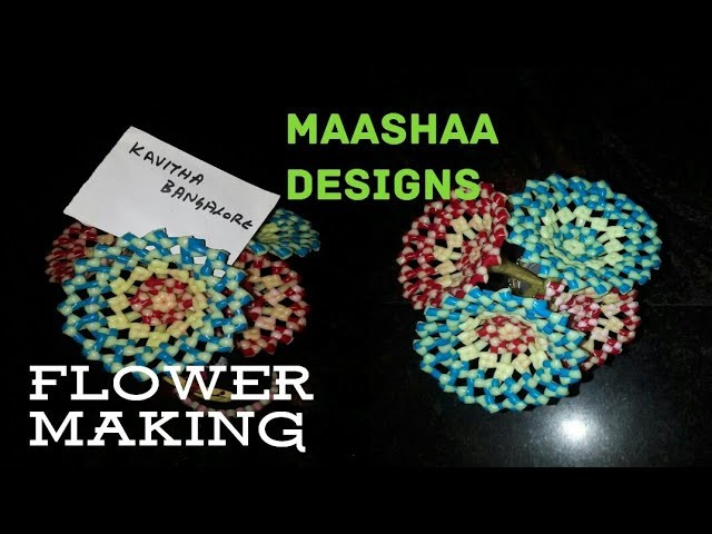 How to make flower with plastic wire