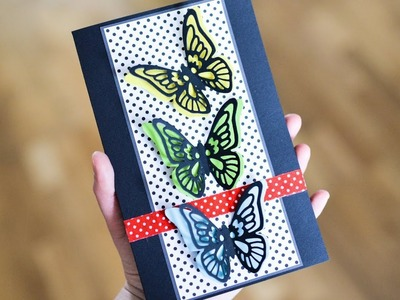 How to make : Greeting Card with Butterflies | Kartka z Motylami - Mishellka #281 DIY