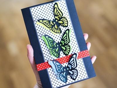 How to make : Greeting Card with Butterflies | Kartka z Motylami - Mishellka #281 DIY
