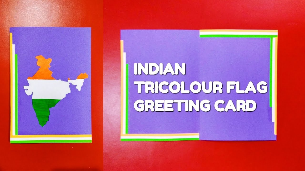 How To Make Indian Republic Day And Independence Day Greeting Card