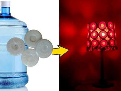How to make Lamp from waste bottle caps